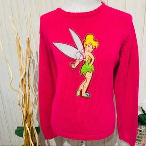 Disney Store Pink Oversized Tinkerbell Sweater